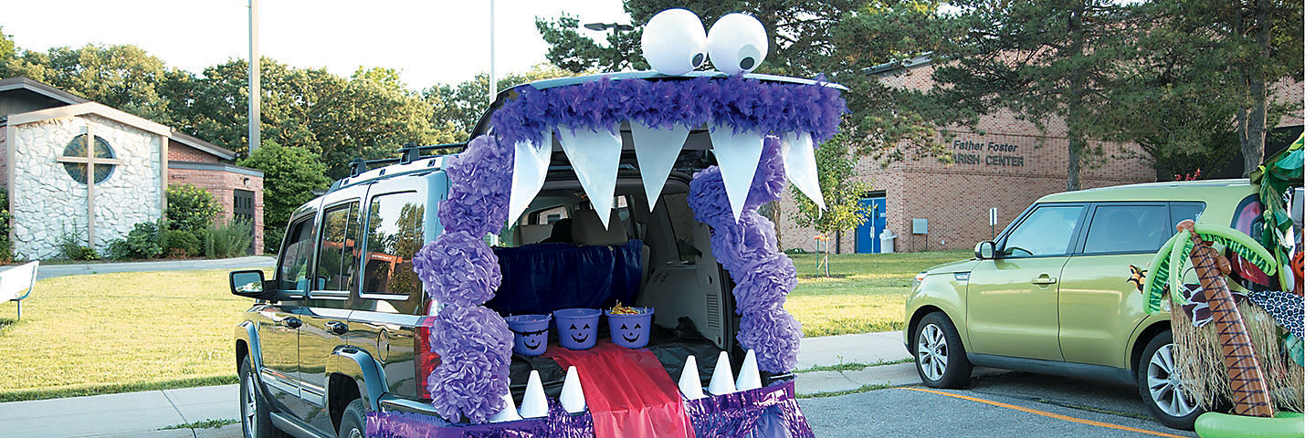 Trunk or Treat Monster Decorating Idea