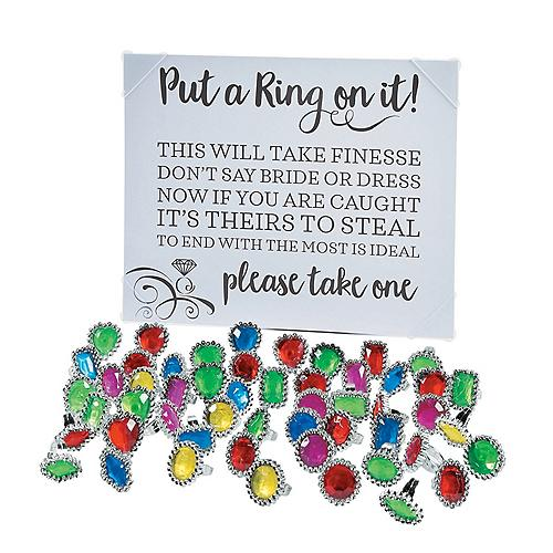 picture regarding Put a Ring on It Bridal Shower Game Free Printable titled Bridal Shower Materials, Bridal Shower Decorations and Favors