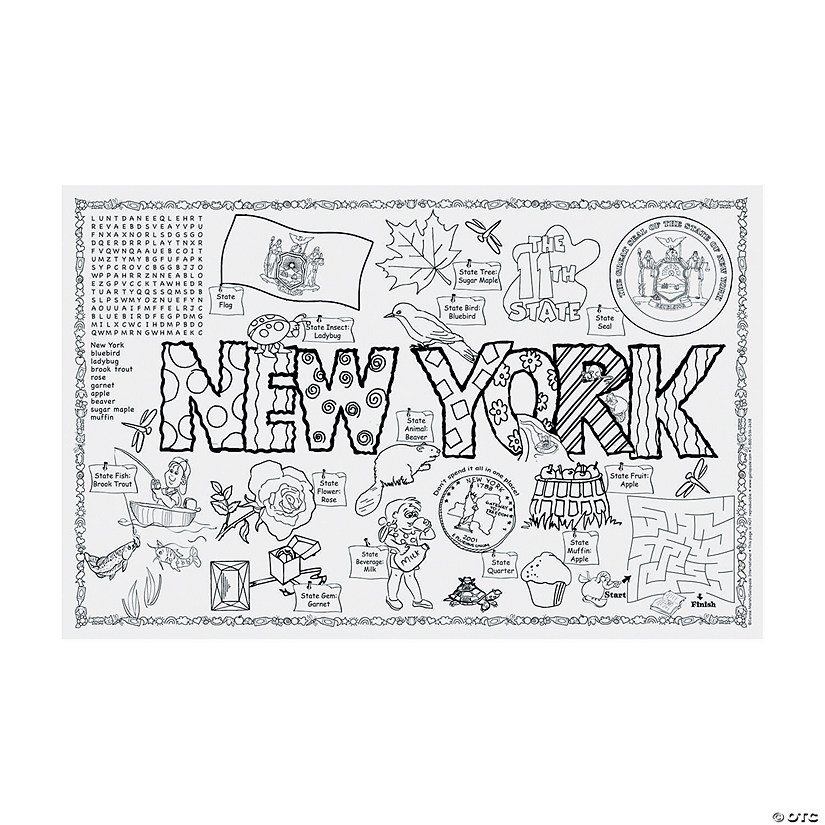 State Symbols And Facts Funsheets New York