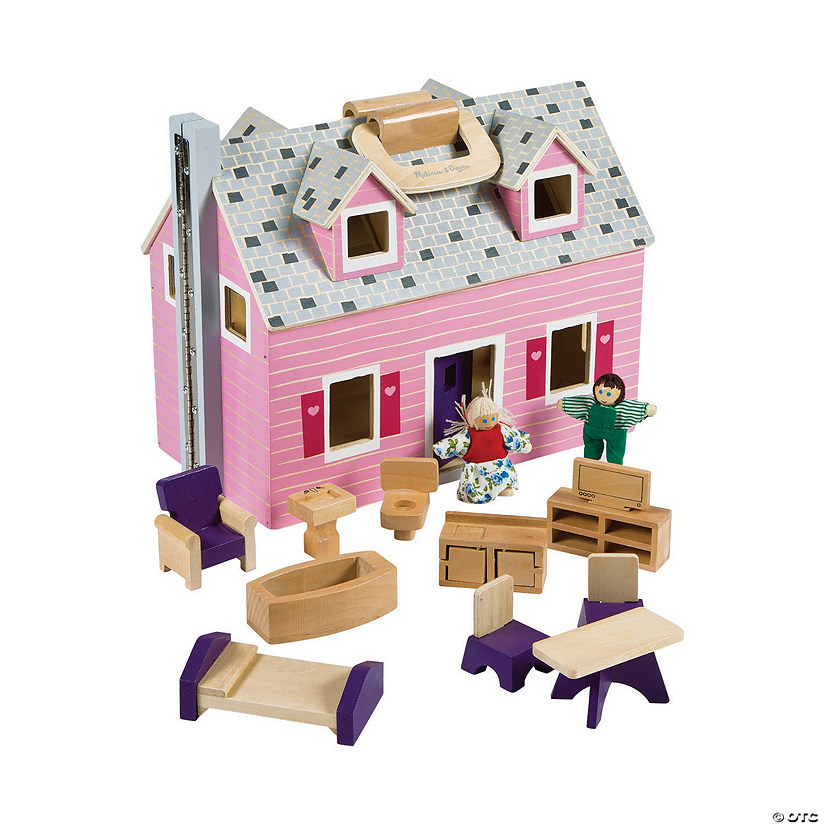 Melissa Doug Fold Go Dollhouse