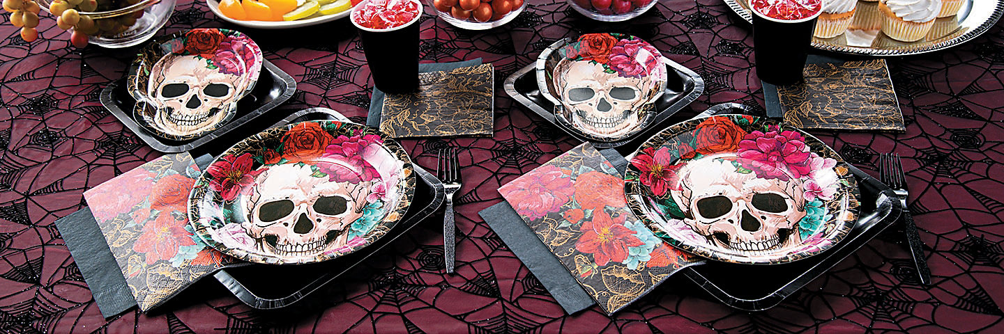 Spooky Floral Party Supplies