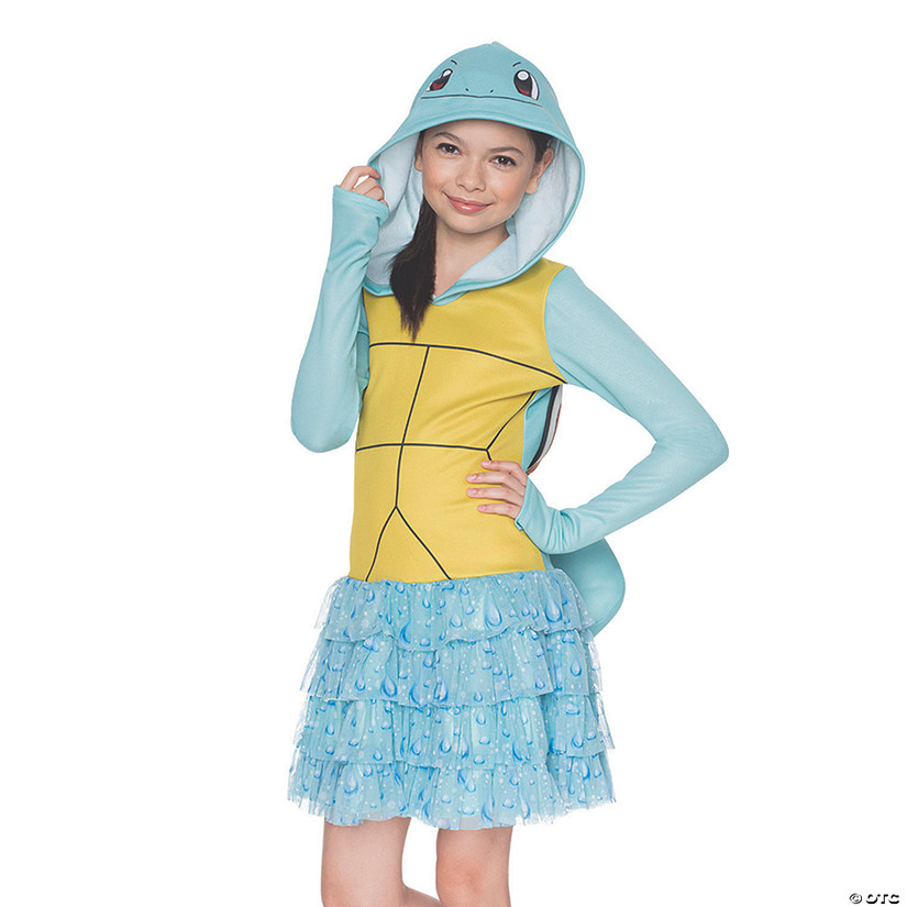 0ecd6e23deb1 Girl s Pokemon Squirtle Hoodie Dress Costume