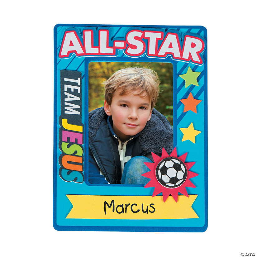 Sports Vbs Picture Frame Magnet Craft Kit