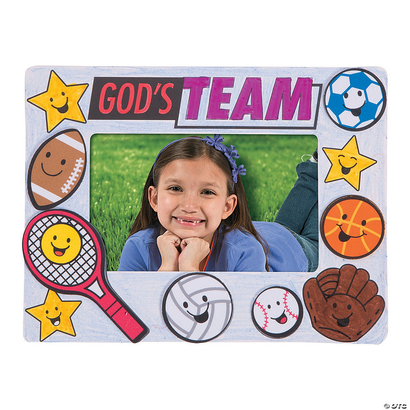 Color Your Own Sports Vbs Picture Frames