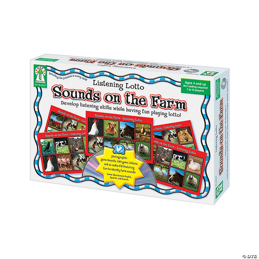Sounds on a Farm Listening Lotto Game