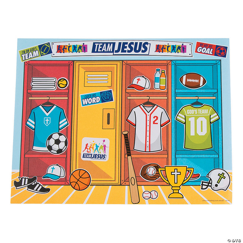 Sports Vbs Sticker Scenes Oriental Trading
