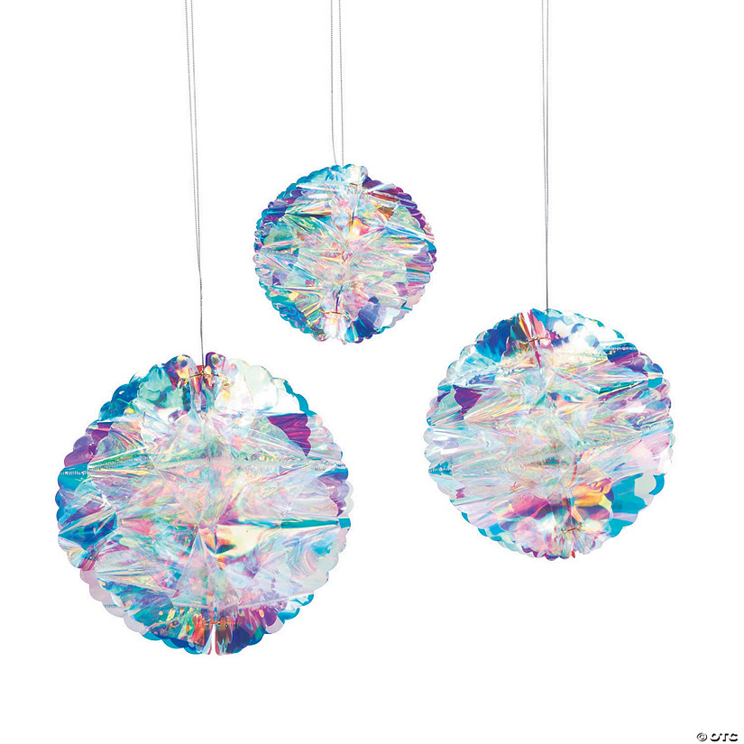 iridescent honeycomb hanging decorations