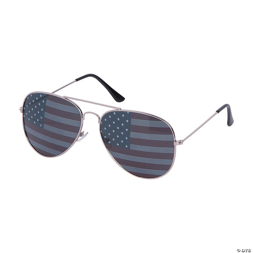 c6b20af09e8a USA Flag Aviator Sunglasses
