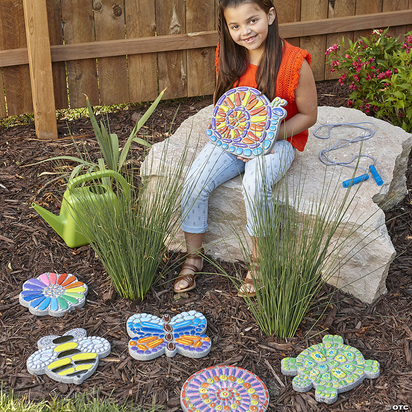 Paint Your Own Stepping Stones Set Of 6