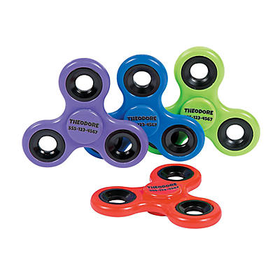 Personalized Solid Color Fidget Spinners