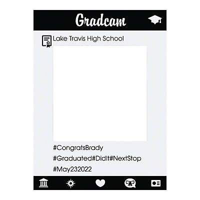 Personalized Instaframe Graduation Photo Booth Cutout | Oriental Trading