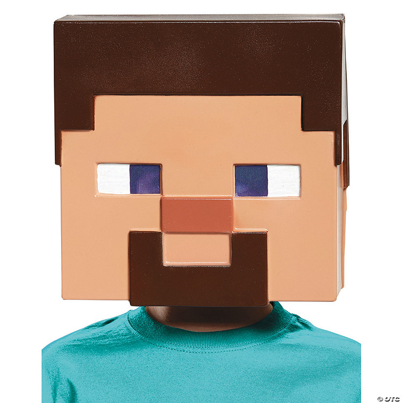 Adult's Minecraft Steve Vacuform Mask | Oriental TradingSteve Minecraft Costume Party City