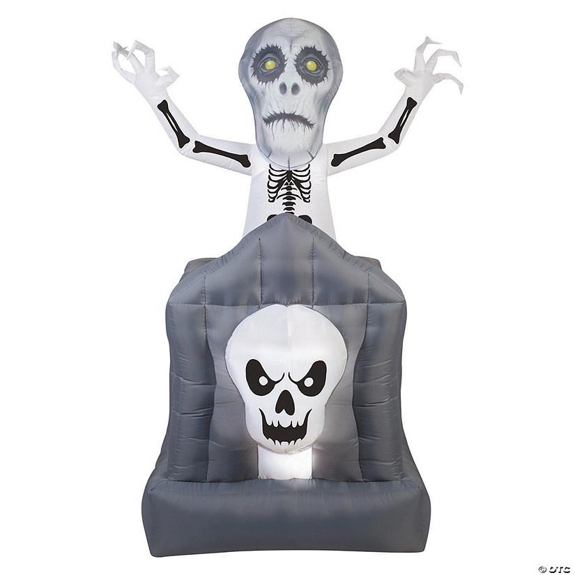 Halloween Pop.Airblown Pop Up Haunted Skeleton Halloween Decoration