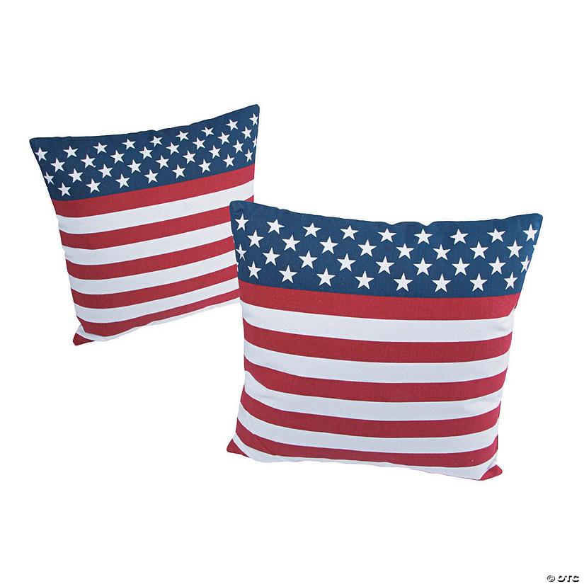 Usa Flag Outdoor Pillow Set