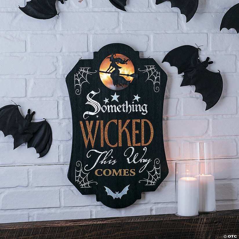 Light Up Mantel Sign Halloween Decoration