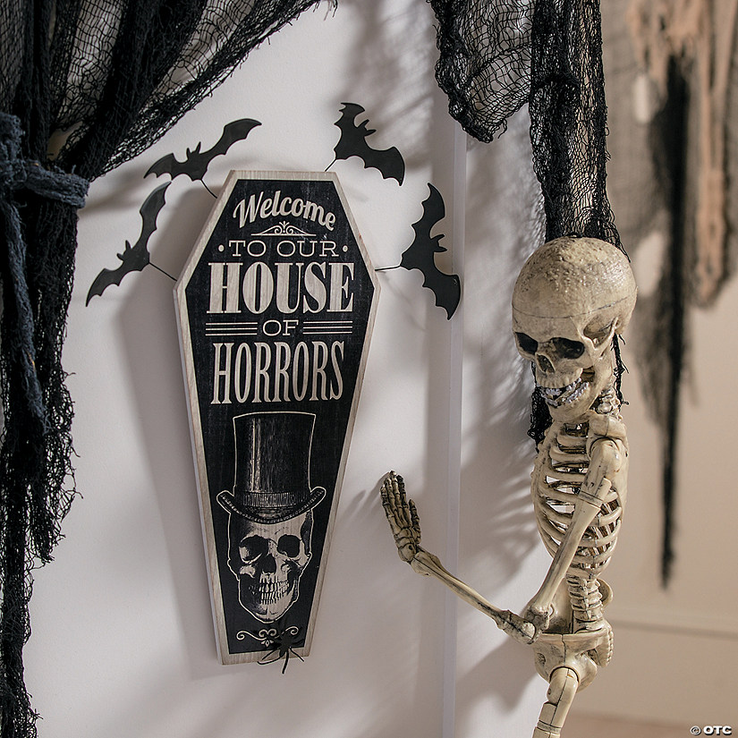 Vintage House Of Horrors Sign Halloween Decoration