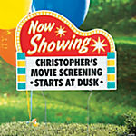 Personalized Movie Party Yard Sign