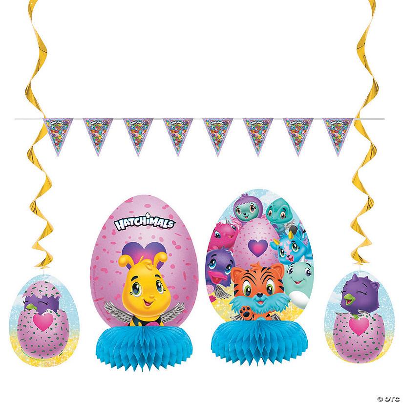HATCHIMALS HAPPY BIRTHDAY BANNER ~ Party Supplies Hanging Decoration Purple Pink