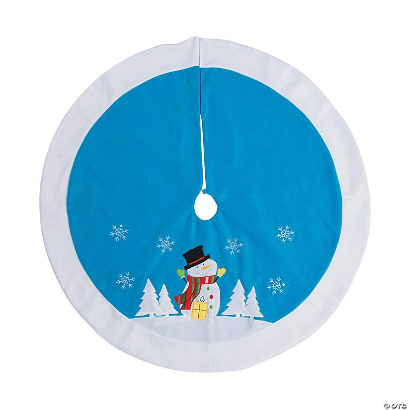 snowman christmas tree skirt - Teal Christmas Tree Skirt