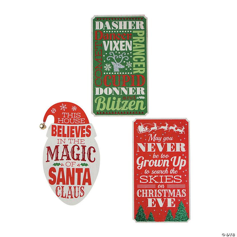 Christmas Signs.Whimsical Christmas Wall Signs