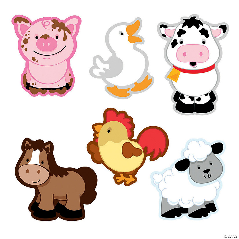 It's just a graphic of Impertinent Free Printable Farm Animal Cutouts
