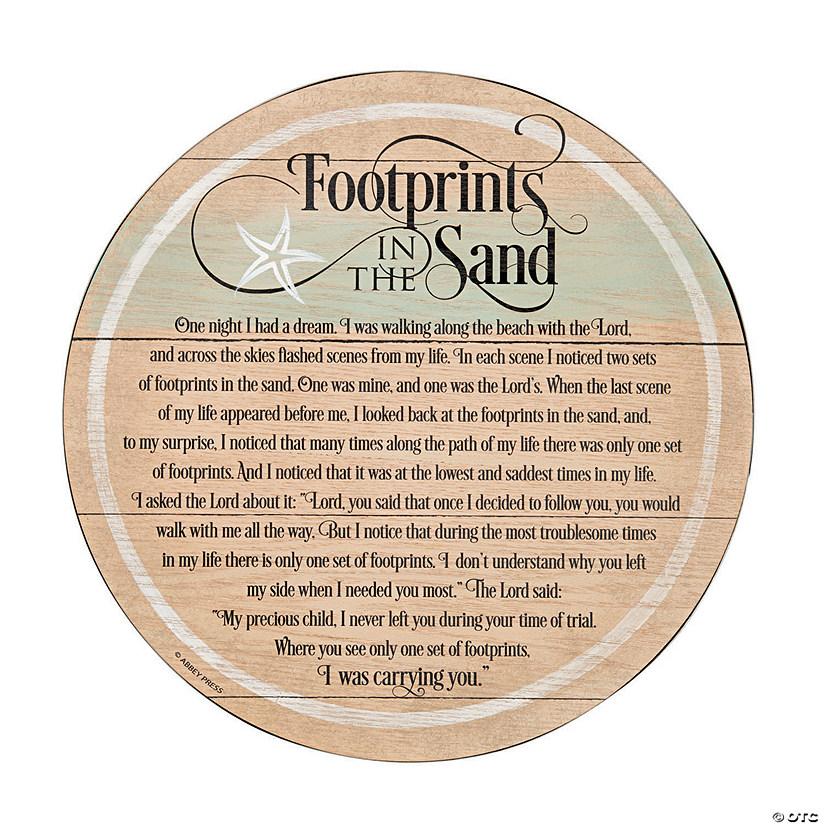 Footprints in the Sand Barrel Plaque
