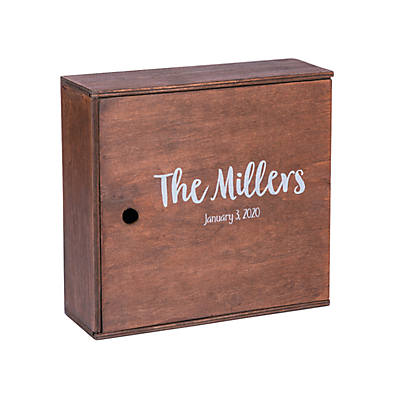 Personalized Stained Wood Keepsake Box With Lid Oriental Trading