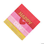 Gold Happy Valentine's Day Luncheon Paper Napkins