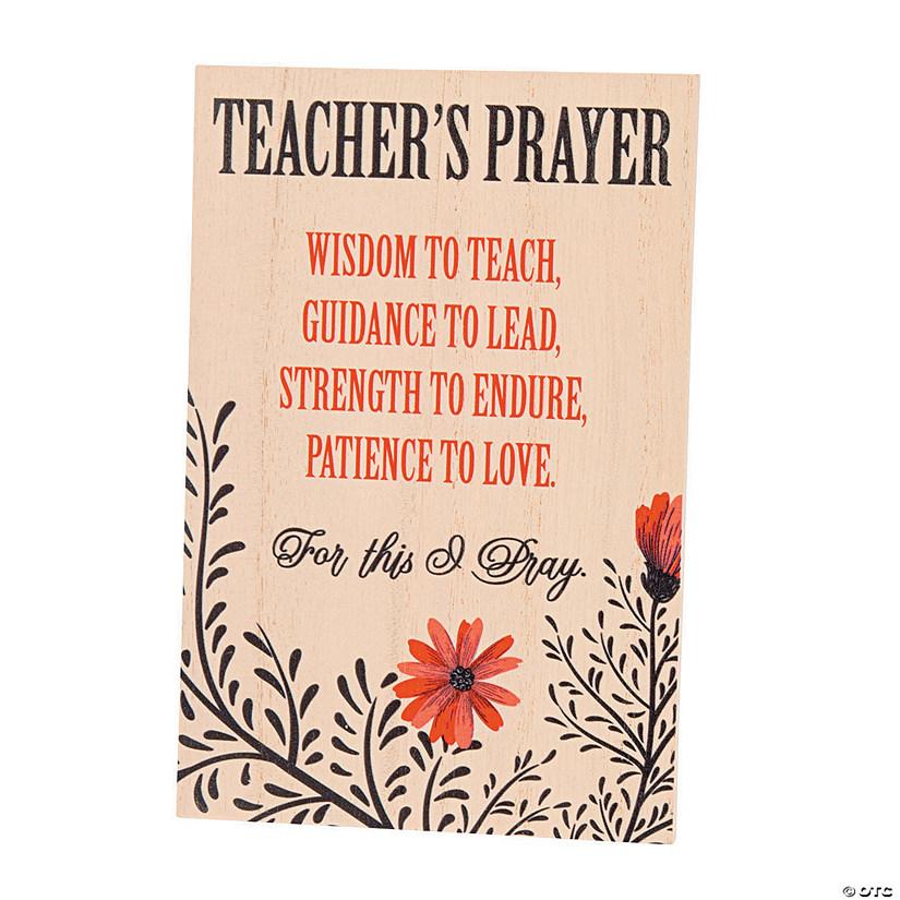Teacher's Prayer Sign