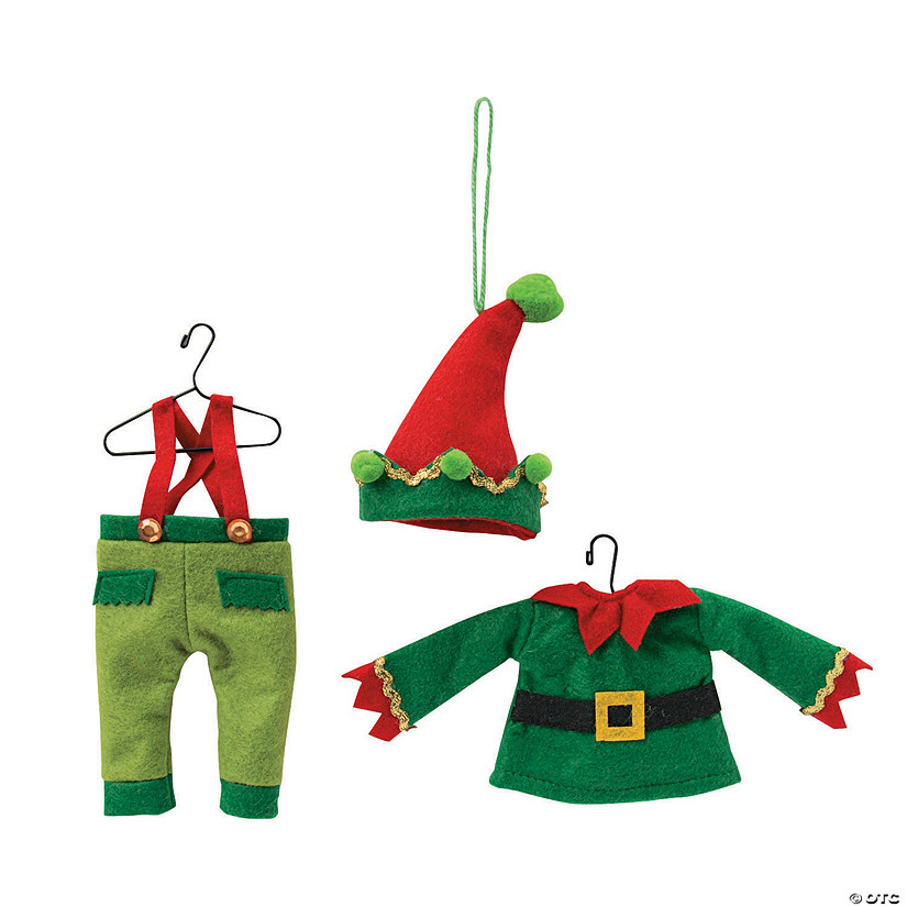 - Whimsical Christmas Elf Outfit Ornaments