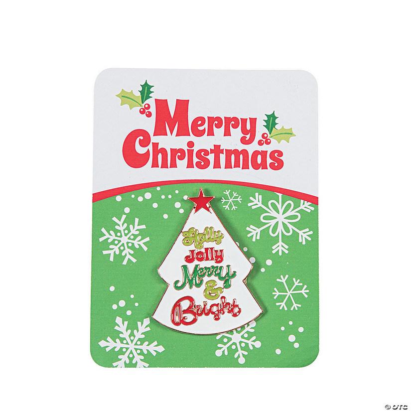 whimsical christmas pins with card - Christmas Pins