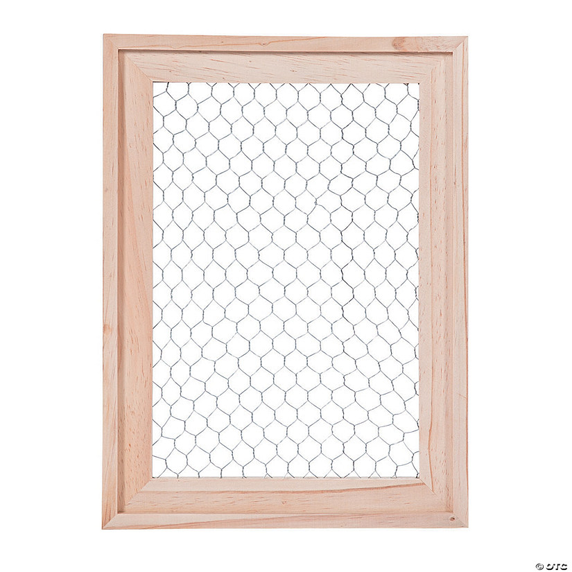 DIY Unfinished Wood Frame with Wire