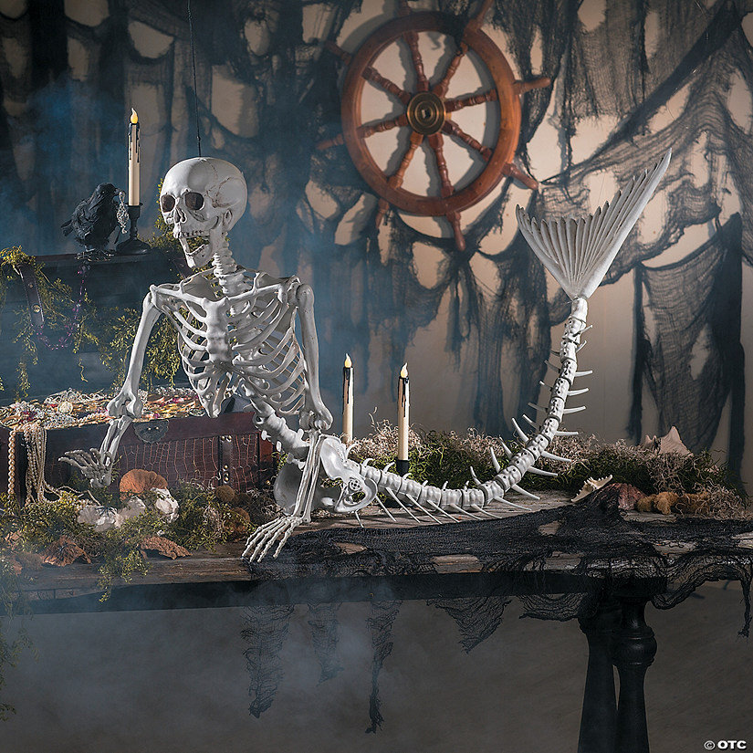 Mermaid Life-Size Skeleton Halloween Decoration