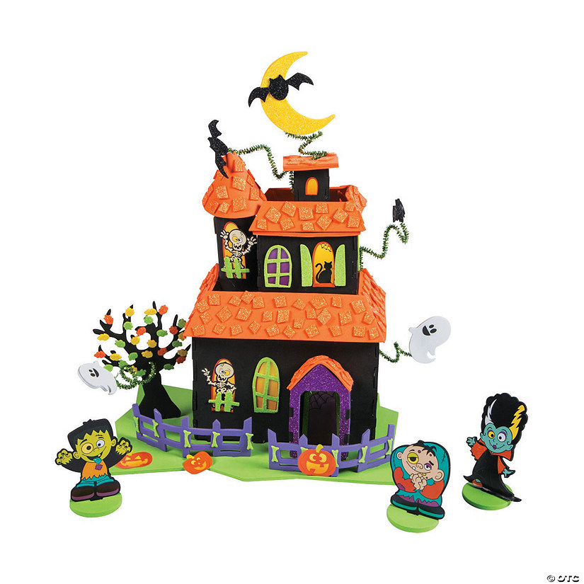 large tabletop haunted house craft kit