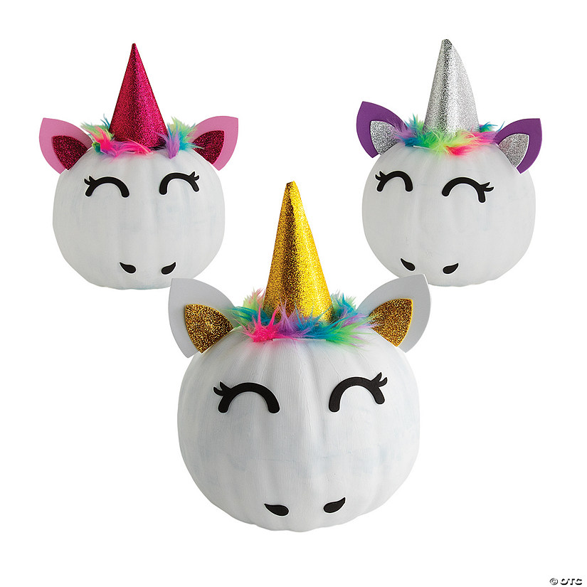 Easy Party Games: Unicorn Pumpkin Decorating Craft Kit