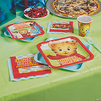 Daniel Tigers Neighborhood Party Supplies Home Tiger Birthday Cake Walmart