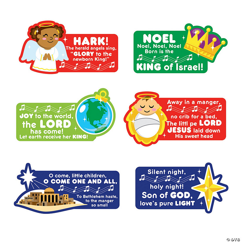 religious christmas song cutouts