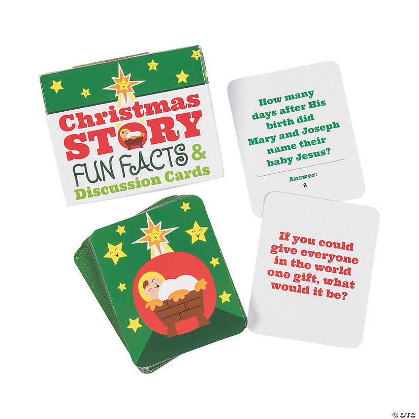 Christmas Fun Facts.Christmas Story Fun Facts Discussion Cards