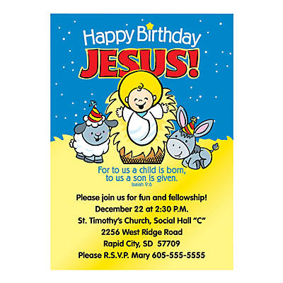 Happy Birthday Jesus Personalized Invitations