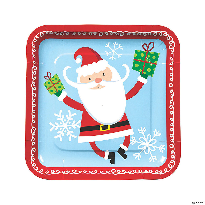 Christmas Paper Plates.Whimsical Christmas Paper Dinner Plates