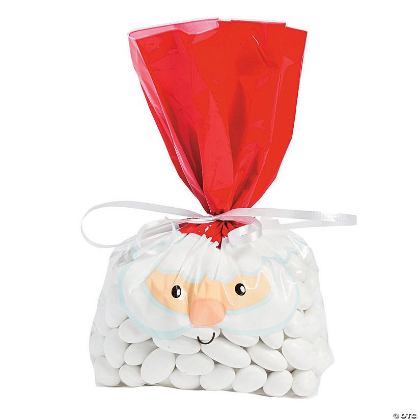 whimsical christmas cellophane bags