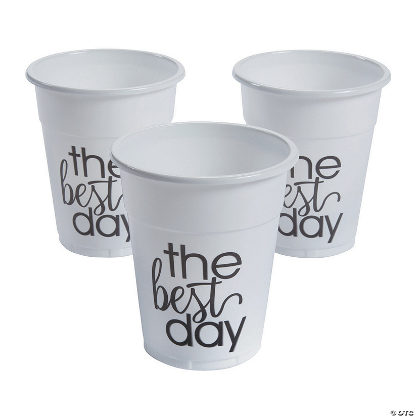 The Best Day Disposable Plastic Cups