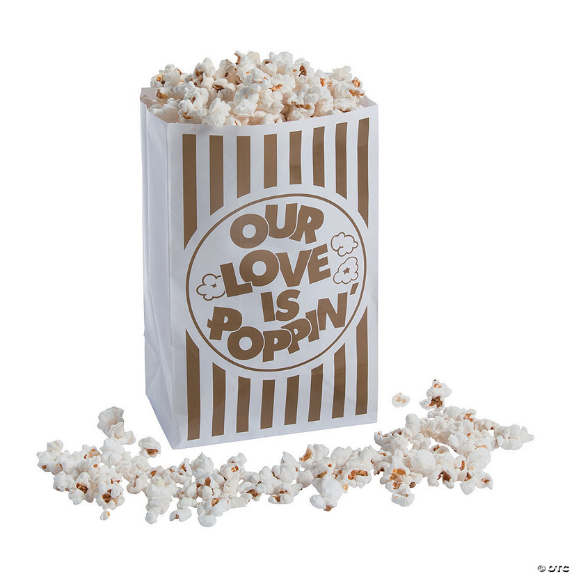 Love Is Poppin Popcorn Bags
