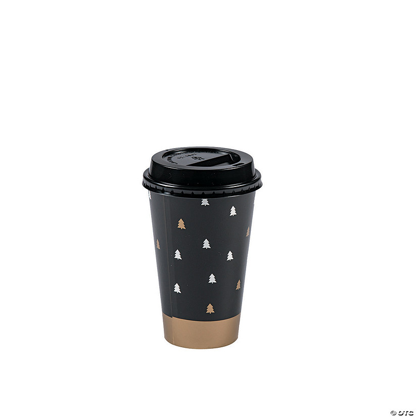 Bold Christmas Insulated Coffee Paper Cups with Lids ...