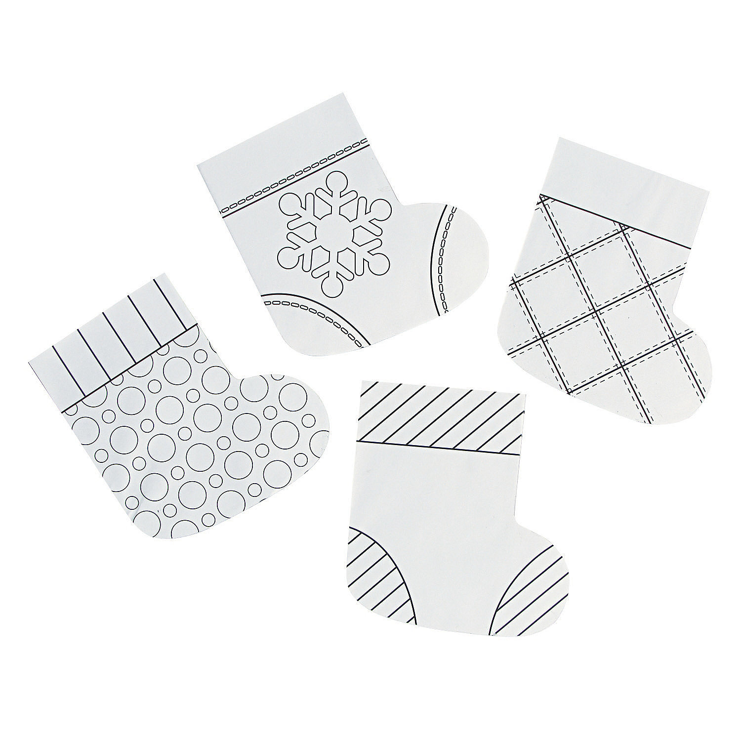 Color Your Own Mini Paper Christmas Stockings - Craft Kits ...