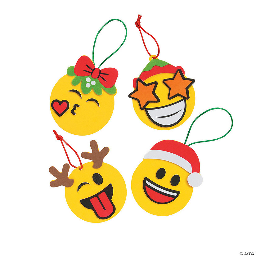 Christmas Emoji.Christmas Emoji Ornament Craft Kit