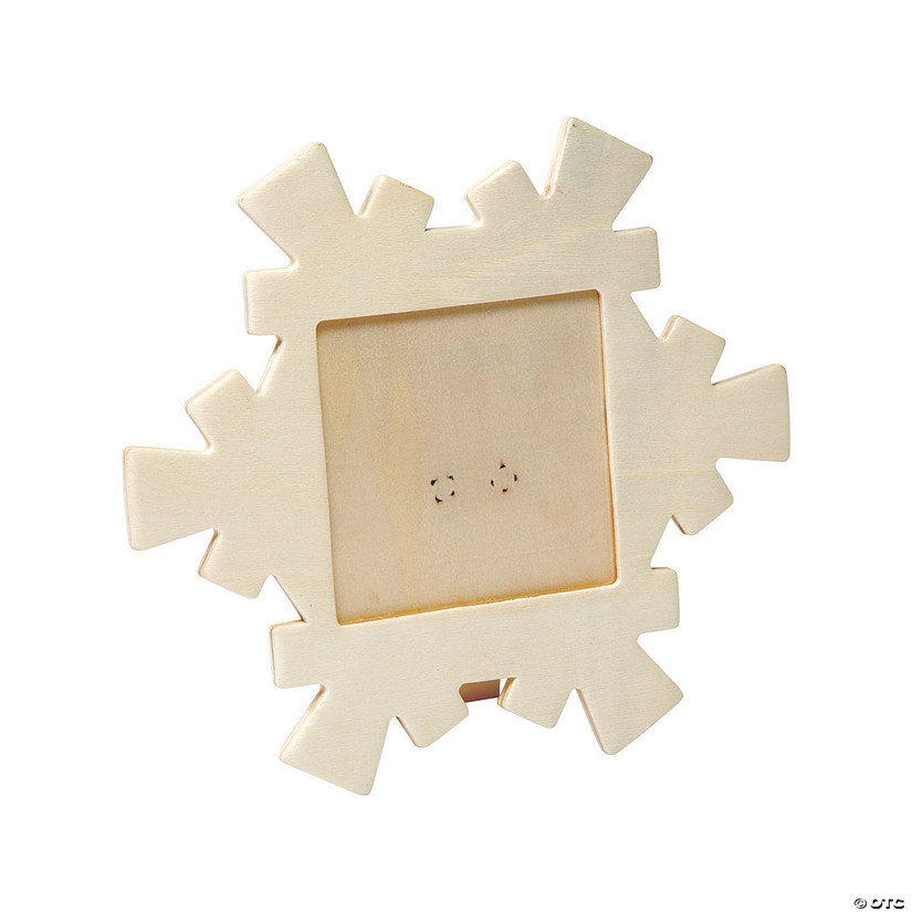 Diy Unfinished Wood Snowflake Picture Frames