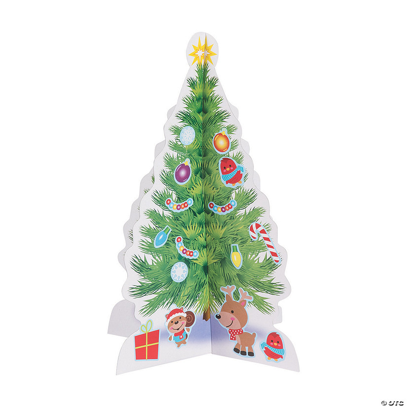 Oriental Trading Christmas.3d Christmas Tree Sticker Scenes