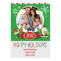 quickview image of custom photo whimsical christmas cards with sku13814451 - 4x6 Photo Insert Christmas Cards