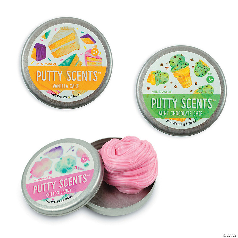 putty scents set of 3 sweet treats